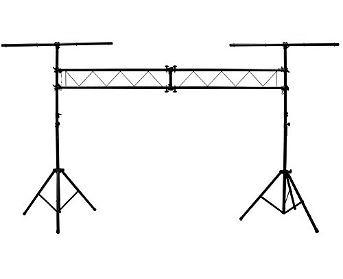 ASC Pro Audio Mobile DJ Light Stand 10 Foot Length Portable Truss Lighting System with T-Bar - Mobile Truss System