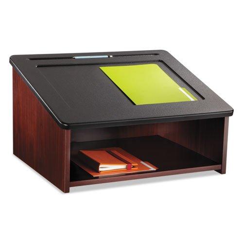(Tabletop Lectern, 24w x 18-1/2d x 13-3/4h, Mahogany/Black, Sold as 1 Each)
