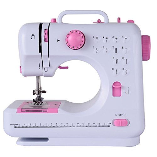 187 Costway Sewing Machine Household Multifunction Double