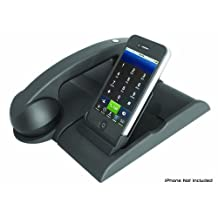 Pyle-Home Bluetooth Wireless Charging Retro Phone Handset with iPod Docking Station and iTunes Sync for iPhone, iPad android, Blackberry PITLBT30 (Discontinued by Manufacturer)