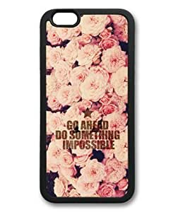 "Caitin Go Ahead,Do Something Impossible Pink Roses Pattern Cases Cover Shell for Iphone 6 Plus(5.5"")"