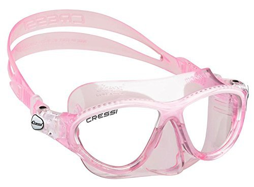 Cressi Mask - Cressi MOON, Kids Mask Ages 7 to 15 for Swimming and Diving - Made in Italy (Pink White)