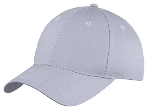 Port & Company Boys Six-Panel Unstructured Twill Cap YC914 -Silver OSFA