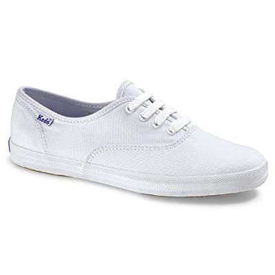 Keds Women's Champion White Canvas Shoes Wide Width