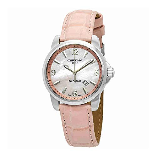 Certina DS Podium Pink Mother of Pearl Dial Ladies Watch C001.210.16.157.00