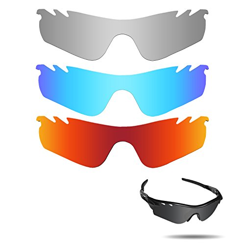 Fiskr Anti-saltwater Polarized Replacement Lenses for Oakley RadarLock Path Vented 3 Pair - Polarized Path Radarlock