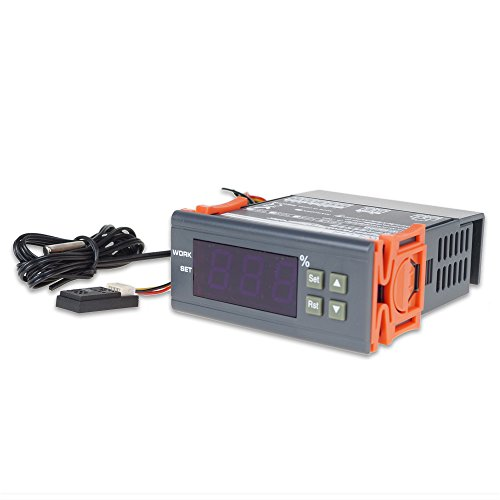 UCONTRO Digital Air Humidity Controller Sensor Humidistat Measuring Range 1%~99% RH AC Humidification Dehumidification for Aquatic Pet, Reptiles & Amphibians, House Basement (12V DC) ()