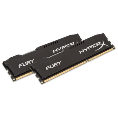 chollos oferta descuentos barato HyperX Fury Memoria RAM de 16 GB 1600 MHz DDR3 Non ECC CL10 DIMM Kit 2x8 GB Negro