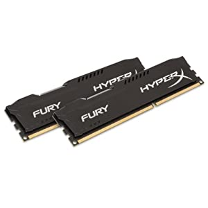 Kingston HyperX FURY 8GB Kit (2x4GB) 1866MHz DDR3 CL10 DIMM - Black (HX318C10FBK2/8) 41ZAB5tT6iL. SS300