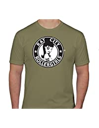Original Rat City Rollergirls Mens T-Shirt in Olive Green