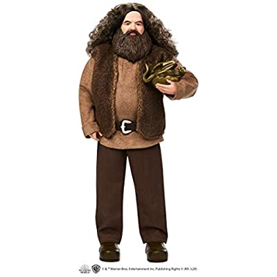 Harry Potter Rubeus Hagrid Collectible Doll, Approx. 12-inch Wearing Belted Shirt and Vest, with Dragon Accessory: Toys & Games