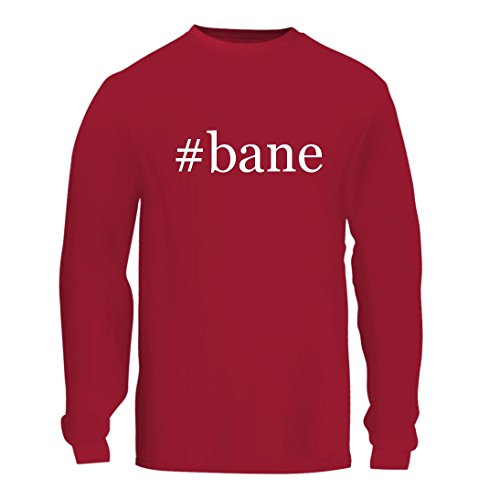 #bane - A Nice Hashtag Men's Long Sleeve T-Shirt Shirt, Red, Large