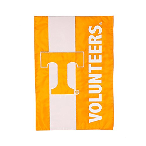 (Team Sports America University of Tennessee Outdoor Safe Double-Sided Embroidered Logo Applique Garden Flag, 12.5 x 18 inches)