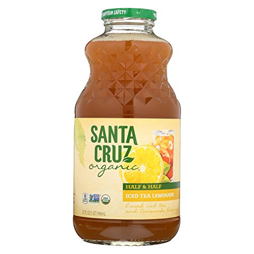 Santa Cruz Organic Lemonade Juice - Half Ice Tea and Half - Case of 12 - 32 Fl oz. by Santa Cruz Organic