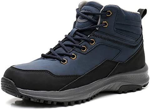 UPSOLO Mens Winter Trekking Snow Boots Water Resistant Shoes Anti-Slip Fully Fur Lined Casual Lightweight Hiking Boots