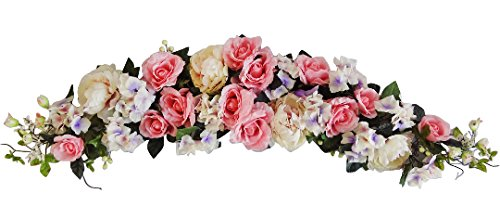 50'' Pink Peony/Rose/Hydrangea Swag by V-Max Floral Decor