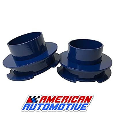 "American Automotive 1999-2007 Silverado Sierra Lift Kit 2"" 2WD Blue Steel Coil Spring Spacers 'Road Fury' Leveling Lift Kit (Set of 2) (2 inch, Blue): Automotive"