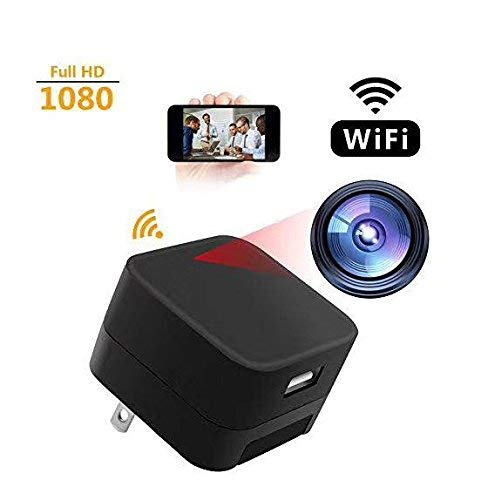 1080P WiFi Spy Camera, Hidden Camera, Mini Camera, Nanny Camera, USB Charger Camera with Motion Detection, Loop Recording for Home and Office Security Surveillance