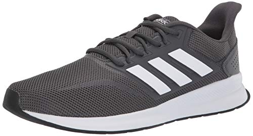 adidas Men's Falcon Running Shoe, Grey/White/Black, 7.5 M US (Mens Fitness Shoes)