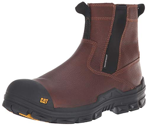 - Caterpillar Men's Throttle Nano Toe Waterproof Construction Boot, Tan, 11.5 M US
