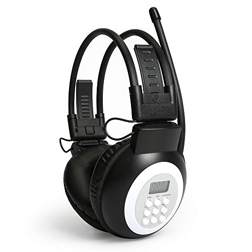 JESSON Walkman Headphone Radio Portable FM Stereo Headset Radio Receiver Digital FM Hearing Protector Earmuff Power on by 2AA Dry Battery (Battery Not Included)