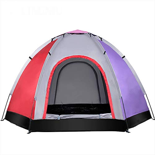 応援する大砲切断するテントの単層5-6人の屋外のビーチテント屋外レジャーアウトキャンプビーチスポーツ(240 * 240 * 145センチメートル)のための大容量軽量防水UV保護,A