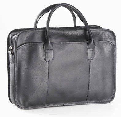 Clava Top Handle Briefcase, Vachetta Black
