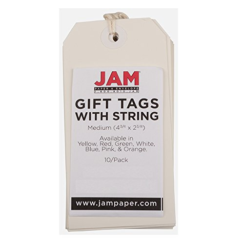 - JAM Paper Gift Tags with String - Medium - 4 3/4