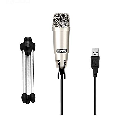 Techlink Condenser Microphone USB Computer Microphone Plug & Play Long Range Microphone for Home Studio Recording/Gaming/Podcasting