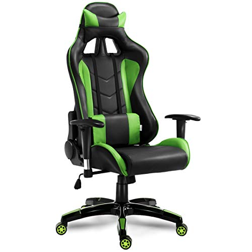 Giantex Gaming Chair Racing Style High Back Pu Leather