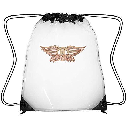 SEeRRroO Clear Drawstring Backpack Rock Music Fans Decor Gym Sack Pack Dancing Bag for Men Women