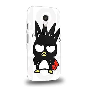 Case88 Premium Designs Bad Badtz-Maru Collection 0636 Carcasa/Funda dura para el Motorola Moto G (2nd Gen.)