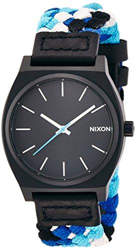 [ニクソン]NIXON TIME TELLER: BLACK/BLUE WOVEN NA0451936-00 メンズ