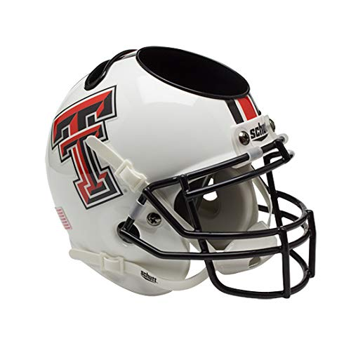 (NCAA Texas Tech Red Raiders Helmet Desk Caddy, White)