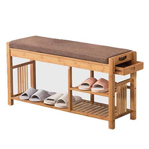 Entrance Change Shoe Bench Pure Solid Wood Shoe Rack Oak Mul