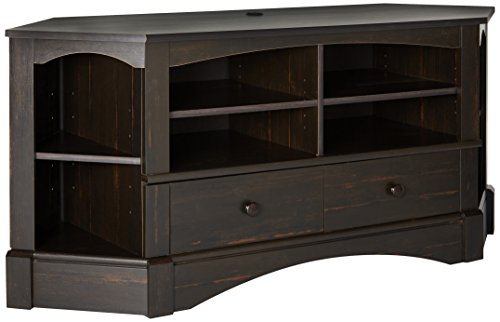 Sauder Harbor View Corner TV Stand in Antiqued Paint (Sauder Audio)