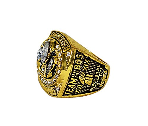 SAN FRANCISCO 49ERS (Jerry Rice) 1988 SUPER BOWL XXIII WORLD CHAMPIONS (Team of the 80s) Vintage Rare & Collectible Replica NFL Gold Championship Ring with Cherrywood Display Box