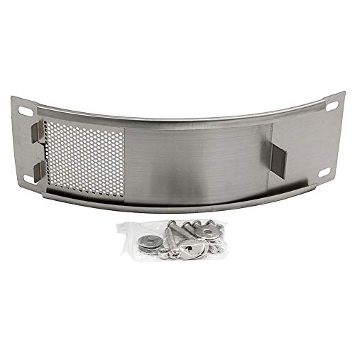 WANRAY BBQ Stainless Draft Door Fits for Medium & Large Big Green Egg Grill Kamado Accessories with Punched MESH Panel Easily Adjusted Egg Bottom Vent ()