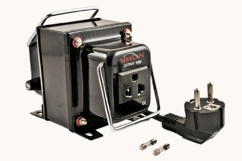 Simran Power Converter Voltage Transformer Step Down 220V-110V THG-300, CE Certified 300 Watt, Small, Black (Isolation Down Step Transformer)
