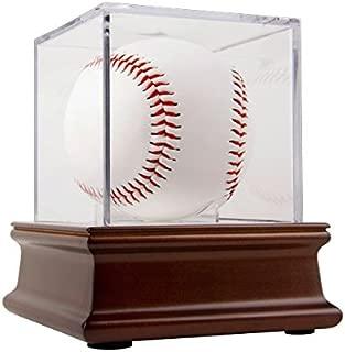 product image for BallQube Grandstand Baseball Display on a Wood Base