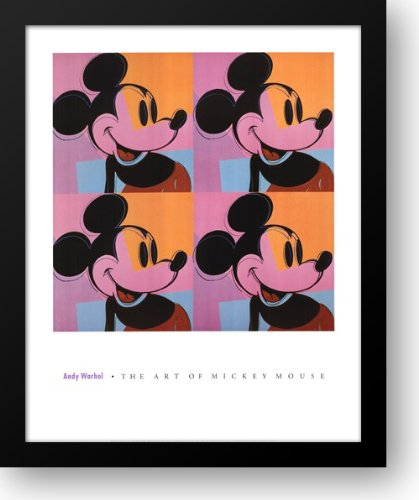 Andy Warhol Mickey Mouse - Mickey Mouse 28x34 Framed Art Print by Warhol, Andy