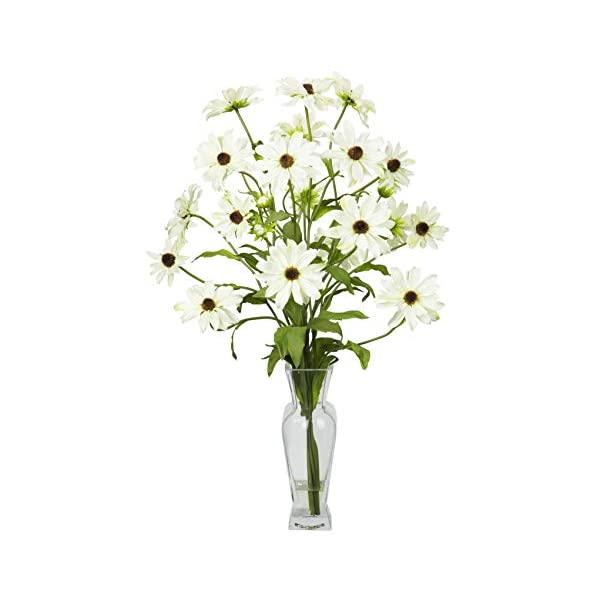Artificial Flowers -White Cosmos with Vase Flower Arrangement Silk Flowers