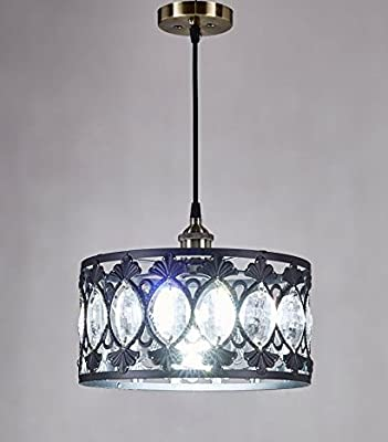 New Legend Antique Black Finish Modern Crystal Chandelier Pendant Hanging Lighting Fixture