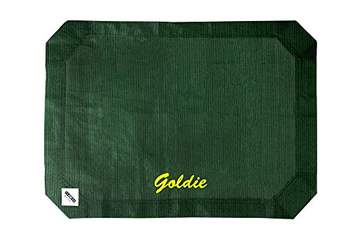 Coolaroo Pet Bed Replacement Cover (Coolaroo Elevated Pet Bed Replacement Cover - Personalize with Pet Name - Large Brunswick Green - Customize Now)