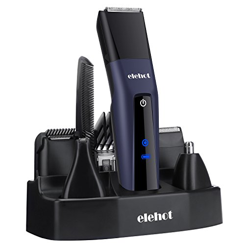 ELEHOT Hair Clipper Trimmer 5 in 1 Multifunctional Beard Grooming Trimmer Kit with LCD Display, Replaceable Electric Shaver Trimmer Heads for Men