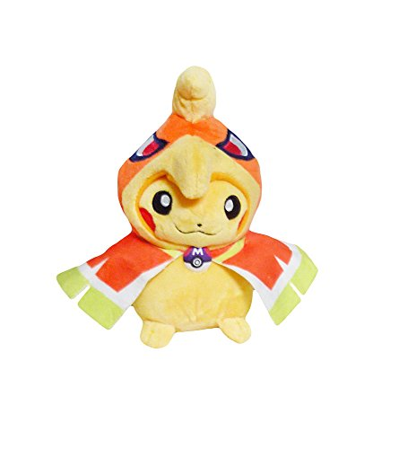 Pikachu Wearing A Costume (Pokemon: 7-inch Mascot Pikachu Plush Doll - Ho-oh)