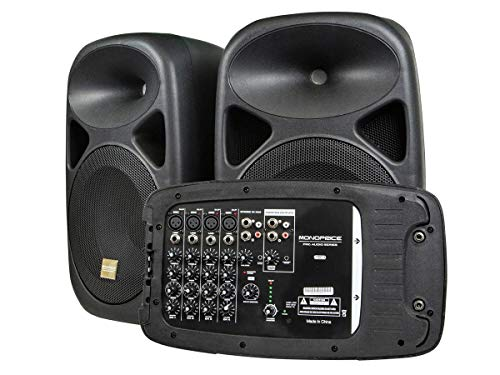 Monoprice 130 Watt 8 Channel PA System with 2 x 10 Inch Speakers