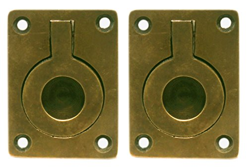 Nesha Antique Style Recessed Ring Pulls 2 Pack ()