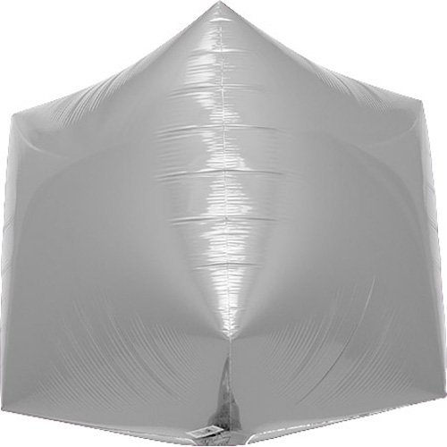 Silver Foil Cube (Silver Cube Helium Foil Balloon - 17 inch)