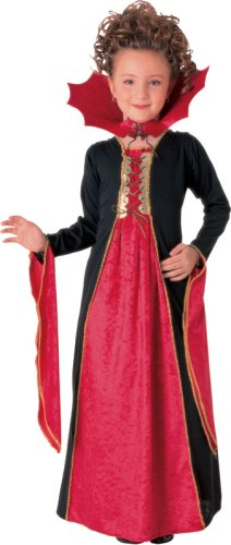 Kids Gothic Vampiress Velvet Dress